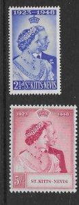 St Kitts/Nevis 93-94  1948 set 2 unused  VF