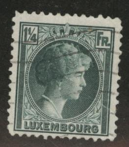 Luxembourg Scott 182 Used  from 1926-35 stamp set