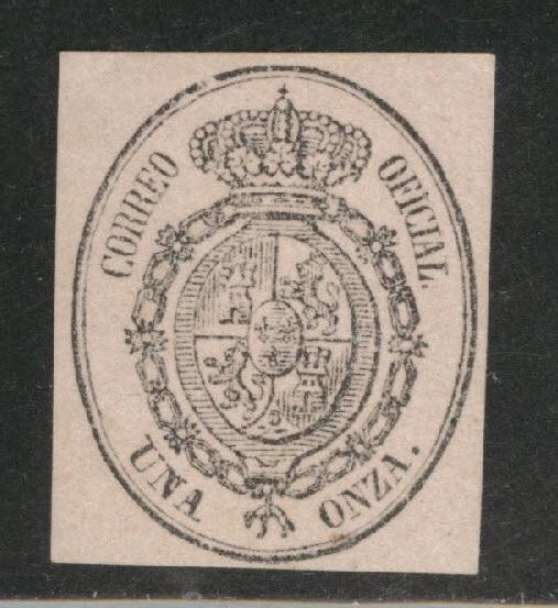SPAIN Scott o6 Official stamp Mint No Gum