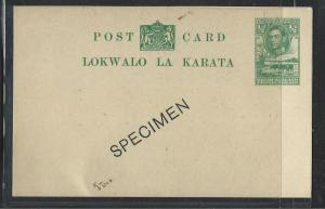 BECHUANALAND (P1703B)  KGVI 12D COW PSC OVPT SPECIMEN