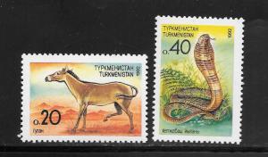 Turkmenistan #29-30 MNH Singles (my2)