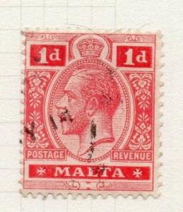 Malta 1914-22 Early Issue Fine Used 1d. 321507