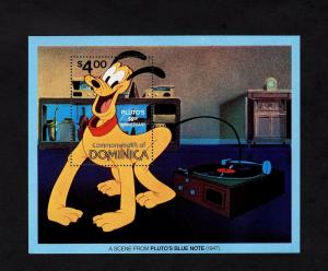 DOMINICA - 1981 - DISNEY - PLUTO - 50th ANNIVERSARY - BLUE NOTE - MINT S/SHEET!