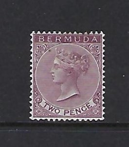 BERMUDA SCOTT #21 1883-1904 VICTORIA 2P (BROWN PURPLE) MINT HINGED