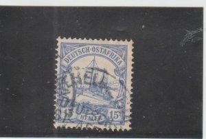 German East Africa  Scott#  25  Used  (1905 Hohenzollern)