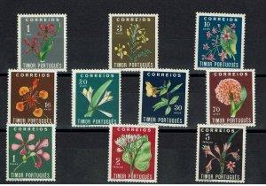 D - Timor 1950 Flowers complet set MNG #275/284
