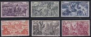 French Equatorial Africa C25-C30 MNH (1946)