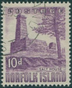 Norfolk Island 1953 SG17 10d violet Salt House FU