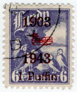 (I.B) Cinderella Collection : Lundy Wright Bros 1p on 6p (doubled overprint)