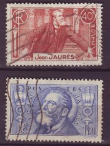 J763 jls stamps 1936 france jean jaures set/2 scn 313-4 used