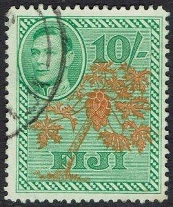 FIJI 1938 KGVI PICTORIAL 10/- USED