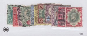 #127-138 up to one shilling used - Cat$337 Edward Great Britain