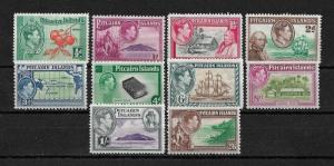 Pitcairn Is Scott # 1-8 VF-OG lightly hinged scv $ 76 ! nice colors ! see pic !