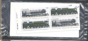 CANADA LOCOMOTIVES #4 M/S OF PBs SCOTT 1119 VF MINT NH (BS19025)