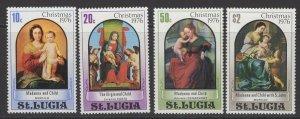 ST.LUCIA SG438/41 1976 CHRISTMAS MNH