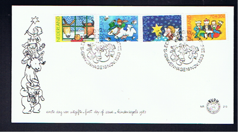 NETHERLANDS 1983 CHRISTMAS FDC