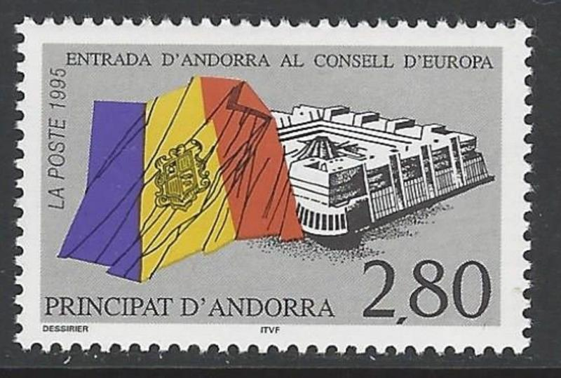 Andorra French 1995 Flag VF MNH (458)