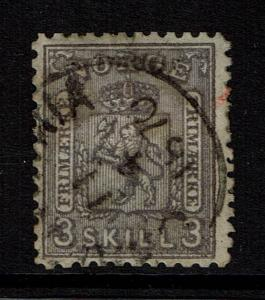 Norway SC# 13, Used, Hinge Remnant - Lot 012917
