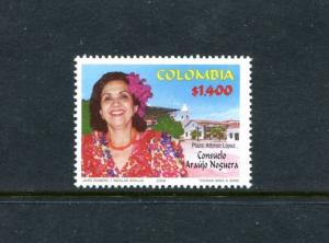Colombia 1196, MNH, Famous People CONSUELO ANAUJO NOGUERA 2002. x23487