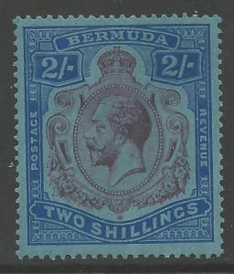 BERMUDA SG88ga 1931 2/= PURPLE & BLUE/GREY-BLUE BREAK IN SCROLL MTD MINT