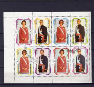 Staffa 1979 King and Queen of Spain Sheetlet (8) Perforated Fine Used