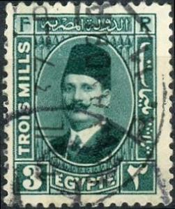 Egypt #131 3m King Fuad Used/H