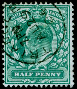 SG216 SPEC M1(2), ½d blue-green, FINE USED, CDS.