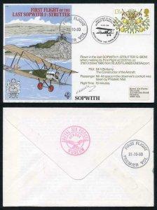 C83 First Flight of the Last Sopwith Strutter Signed by Mr V. Bellamy