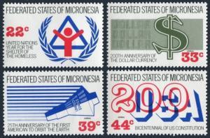 Micronesia 56-57,C28-C29,C30 sheet,MNH.Events 1987.IYSH-1987,US Constitution-200