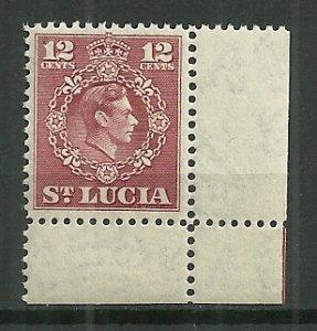 1949 St. Lucia #142  12c KGVI MNH