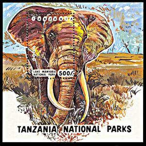 Tanzania MNH S/S 1192 Elephant 1993