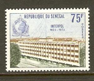 Senegal #395 NH Interpol