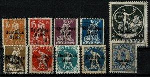 GERMANY 1920-21 BAVARIA optd. .PART SET SG118-SG136 USED (VFU) XF/SUPER