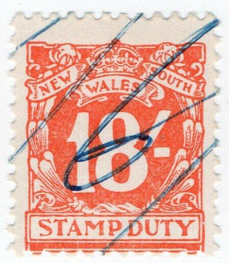 (I.B) Australia - NSW Revenue : Stamp Duty 18/-