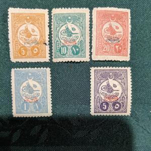 Turkey P61-64, 66 VFMH, CV $672.25