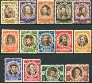 VATICAN Sc#110-121, E9-10 1946 Council of Trent Complete Set OG Mint Hinged