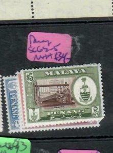 MALAYA  PENANG   (P1606B)  SG 62-5         MNH
