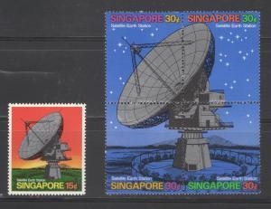 Singapore 1971 Satellite Earth Station  Scott # 142 - 143 MH
