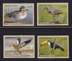 United Nations Vienna  #329-332    MNH  2003  endangered species   birds