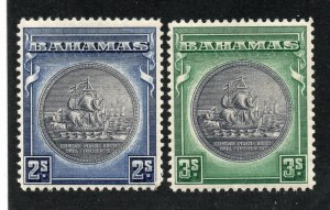 Bahamas - SG# 131 & 132 MLH / slate purple center   -   Lot 0420261