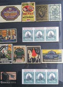 World Exhibition, Convention, Stamp Show, Poster, Label stamp Collection LOT#Q11