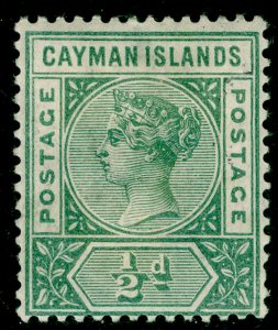CAYMAN ISLANDS SG1a, ½d pale green, M MINT. Cat £15.