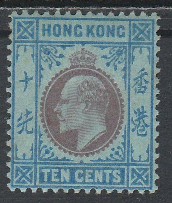 HONG KONG 1903 KEVII 10C WMK CROWN CA