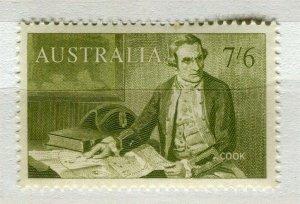 AUSTRALIA; 1963-65 early Navigators issue fine Mint hinged 7s. 6d. value