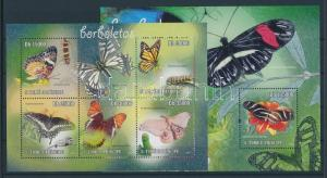 Sao Tomé e Príncipe stamp MNH Butterflies block WS89917