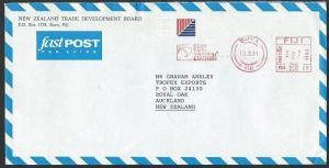 FIJI 1991 airmail cover to NZ, Suva NZ Trade Board meter RN20..............13220