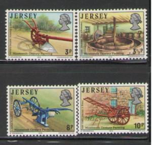 Jersey Sc 120-3 1975 farming  stamps mint NH