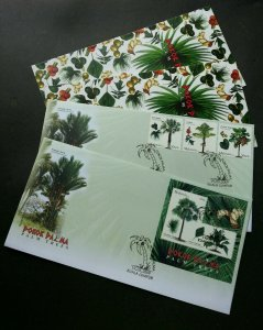 Palm TreesMalaysia 2009 Fruit Plant Flower (FDC pair) *odd shape *unusual