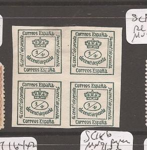 Spain SC 174a block of 4 MOG (8awz)