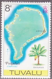 Tuvalu 28 Map of Funafuti 1976